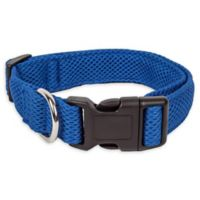 Small Aero Mesh Adjustable Dog Collar in Blue