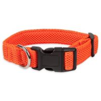 Medium Aero Mesh Adjustable Dog Collar in Orange