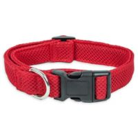 Small Aero Mesh Adjustable Dog Collar in Red