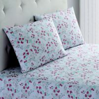 Peach & Oak 150-Thread-Count Floral Twin Sheet Set in White