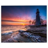 Marblehead Lighthouse in Ohio 12-Inch x 18-Inch Canvas Wall Art