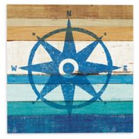 Beachscape IV 24-Inch Square Compass Canvas Wall Art