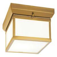 Minka Lavery® Liberty 2-Light LED Flush-Mount Ceiling Light in Light Gold