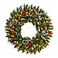 National Tree 30-Inch Frosted Berry Pre-Lit Wreath with Lights