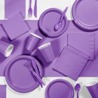 Creative Converting 245-Piece Party Supplies Kit in Purple Amethyst