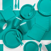 Creative Converting 245-Piece Party Supplies Kit in Teal