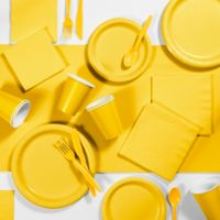 Creative Converting 245-Piece Party Supplies Kit in Yellow