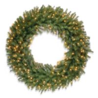 National Tree 4-Foot Norwood Fir Pre-Lit Wreath with Clear Lights