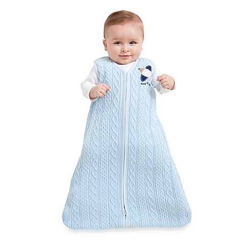 HALO® SleepSack® Medium Cable Knit Wearable Blanket in Blue