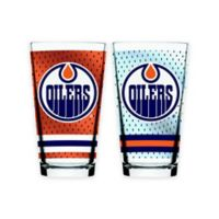 NHL Edmonton Oilers 2-Piece Mixing Glass Set