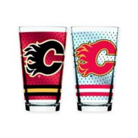 NHL Calgary Flames 2-Piece Mixing Glass Set