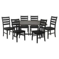 Forest Gate™ Rustic 7-Piece Dining Set in Black/Grey Wash