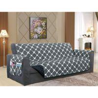 Bloomingdale Oversize Sofa Protector in Black/Grey