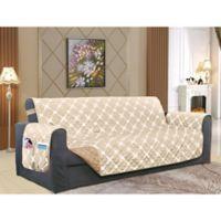 Bloomingdale Sofa Protector in Cream/Taupe
