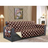 Bloomingdale Sofa Protector in Chocolate/Cream