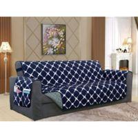 Bloomingdale Sofa Protector in Navy/Grey