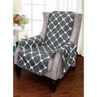 Bloomingdale Wing Chair Protector in Black/Grey