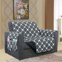 Bloomingdale Chair Protector in Black/Grey