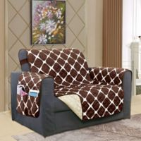 Bloomingdale Chair Protector in Chocolate/Cream