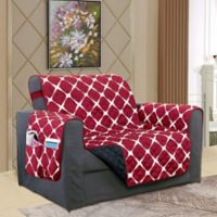 Bloomingdale Chair Protector in Burgundy/Black