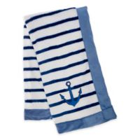 Baby Lounge Anchor Swaddle Blanket in Navy Blue