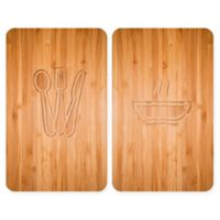 Wenko® Lunch 2-Piece 11.81-Inch x 20.47-Inch Glass Stove Cover Cutting Board Set