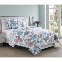 VCNY Home 5-Piece Queen Eiffel Quilt Set in Pink/Blue