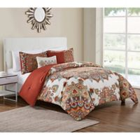 VCNY Home 5-Piece King Tamara Comforter Set in Orange