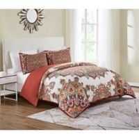 VCNY Home 3-Piece Queen Tamara Duvet Cover Set in Orange