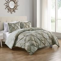 VCNY Home Karla Queen Duvet Cover Set in Beige/White