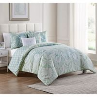 VCNY Home Taconic 5-Piece Reversible Queen Comforter Set in Blue/White