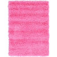 Unique Loom Solid Shag 2' X 3' Powerloomed Area Rug in Taffy Pink