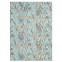 Studio NYC Current 3'9 x 5'9 Area Rug in Dark Teal