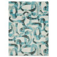 Studio NYC Design® Distressed Abstract 5' x 7' Area Rug by Nourison in Midnight
