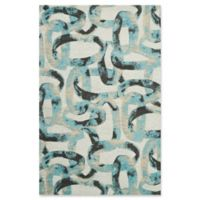Studio NYC Design® Distressed Abstract 3'9 x 5'9 Area Rug by Nourison in Midnight