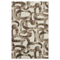 Studio NYC Design® Distressed Abstract 3'9 x 5'9 Area Rug by Nourison in Glacier