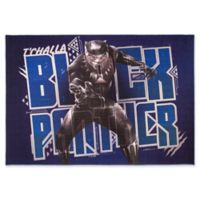 """Marvel Black Panther Black Panther 4'6"""" X 6'6"""" Woven Area Rug"""