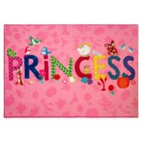 "Disney Princess Princess Icons 4'6"" X 6'6"" Woven Area Rug"