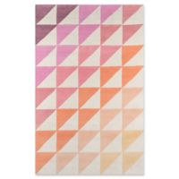 Novogratz Collection Agatha Side Triangle 3'6 x 5'6 Hand-Tufted Area Rug in Pink