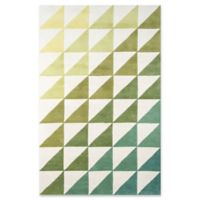 Novogratz Collection Agatha Side Triangle 5' x 8' Hand-Tufted Area Rug in Lime