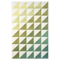 Novogratz Collection Agatha Side Triangle 9' x 12' Hand-Tufted Area Rug in Lime