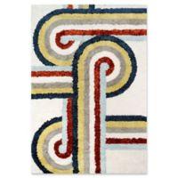 Novogratz Collection Turnstyle 3'6 x 5'6 Hand-Tufted Multicolor Area Rug