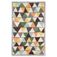 Novogratz Collection Tri 3'6 x 5'6 Hand-Tufted Multicolored Area Rug