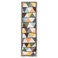 Novogratz Collection Tri 2'3 x 8' Hand-Tufted Multicolored Runner
