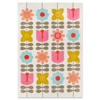 Novogratz Lulu Flower Child 7'6 x 9'6 Area Rug in Ivory