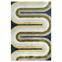Novogratz Retro Wave 2' x 3' Accent Rug in Blue/Multi