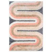 Novogratz Retro Wave 3'6 x 5'6 Multicolor Area Rug