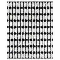 Novogratz Stockings 2' x 3' Accent Rug in Black