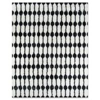 Novogratz Stockings 7'6 x 9'6 Area Rug in Black