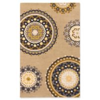 ECARPETGALLERY Mod 5' X 8' Tufted Area Rug in Beige